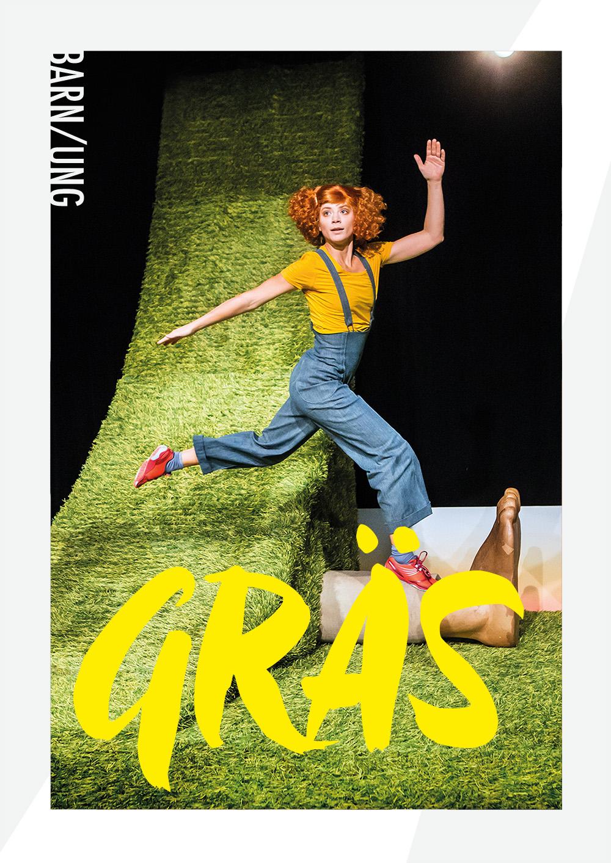 Regionteatern. Affischbild för Gräs